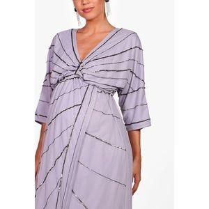 Boohoo Dresses - Maternity Wedding Embellished Batwing Dress